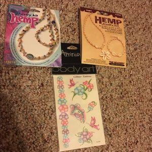 Brand new jewelry kit and glitter tattoos!